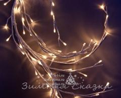"""Ветка - лиана """"Ледяная Ива"""", 150см, 144 LED ламп, теплый белый"""