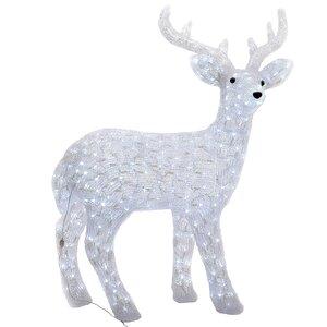 Светодиодный олень, 94 см, уличный, акрил, 160 холодных белых LED ламп, мерцание