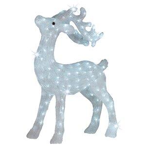 Светодиодный олень, 73 см, уличный, акрил, 200 холодных белых LED ламп, мерцание