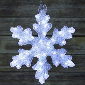 Снежинка светящаяся, 40 см, уличная, акрил, 50 холодных белых LED ламп, IP44