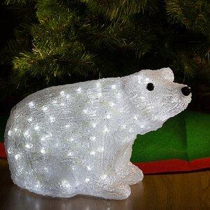 """Медведь светящийся """"BABY"""", 40 см, уличный, акрил, 150 холодных белых LED ламп"""
