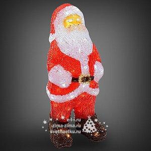 Санта светящийся, 60 см, уличный, акрил, 120 холодных белых LED ламп