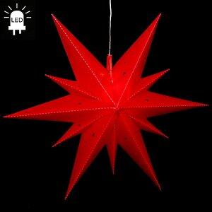 Светильник подвесной Звезда Вифлеемская 60 см красная, LED подсветка