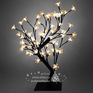"""Светодиодное мини дерево """"САКУРА БОНСАЙ"""", 45 см, 64 ТЕПЛЫХ БЕЛЫХ LED ламп, 24V"""