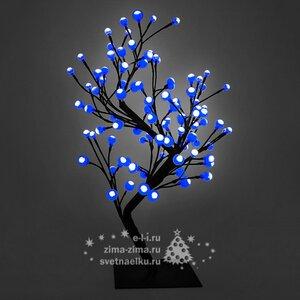 "Светодиодное мини дерево ""Бонсай ШАРИКИ"", 60 см, 96 СИНИХ LED ламп, 24V"