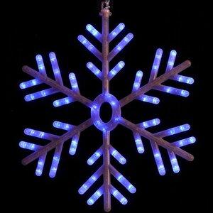 Снежинка светодиодная, 60 см, бело-синяя, 162 LED лапмы, контроллер