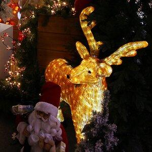"""Олень """"Лесной"""" светящийся, 100 см, уличный, акрил, 380 холодных белых LED ламп"""
