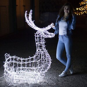 Светящийся олень Купидон 140 см