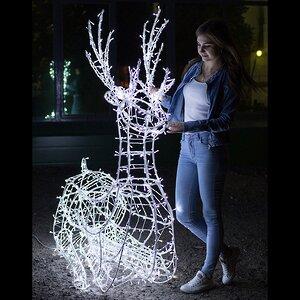 Светящийся олень Купидон 170 см