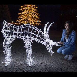 Светящийся олень Рудольф 90 см