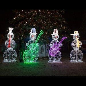 Светящиеся Снеговики-музыканты уличные 210 см, 4 шт